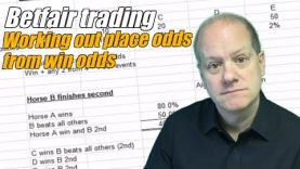 Betfair trading – Working out place odds from win odds
