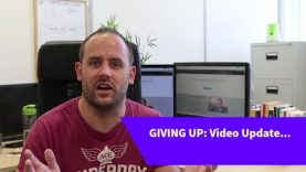GIVING UP…