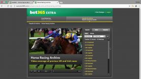 The Bet365 Racing Video Archive